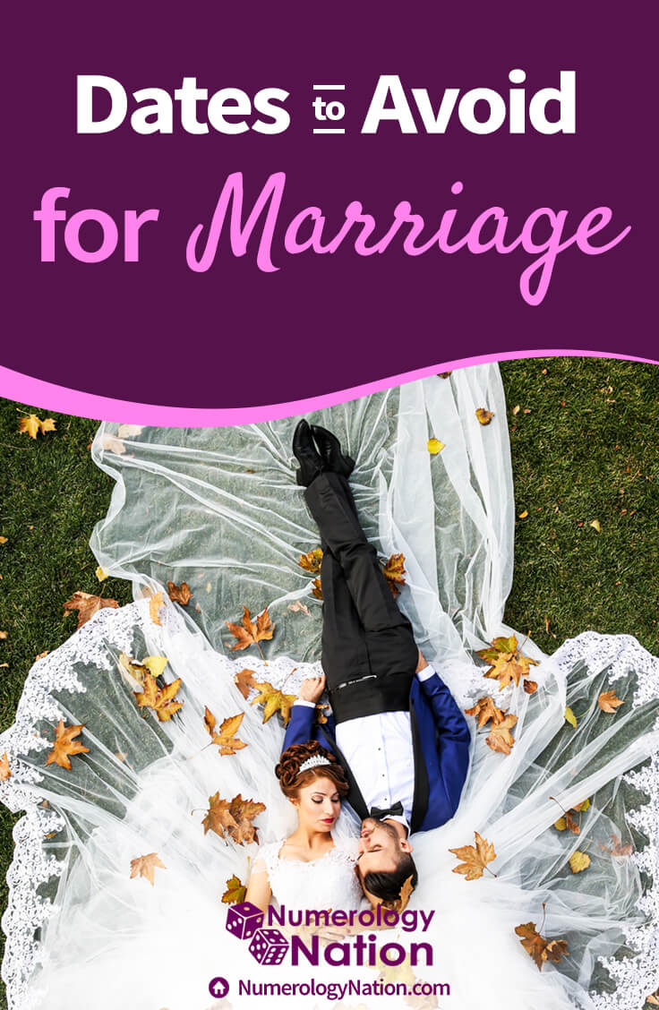 dates to avoid for marriage numerology